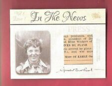 AMELIA EARHART IN THE NEWS RELIC CARD PIECE JULY 5 1937 NEWSPAPER ARTICLE ALIVE?