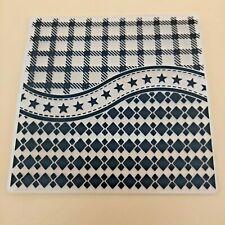 Embossing Folder, Checker Squares, Stars, Diamonds **UK Seller, Fast Dispatch**