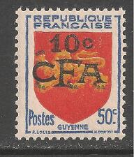 Reunion #283 ( France A182) VF MNH - 1950 10c on 50c Arms Of Guyenne (Aquitania)