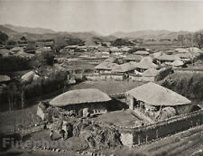 1929 KOREA Original Photo Gravure VILLAGE KYONGJYU Architecture Landscape GRAEFE