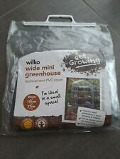 Wide mini greenhouse PVC replacement Cover 80x130x37cm