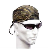 Fitted Bandana Brown Green Camouflage Zandana One Size Tie to Fit Cotton Scarf
