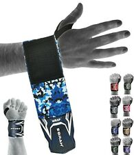 EMRAH Wrist Wraps Weight Lifting Training Gym Straps Support Grip Gloves