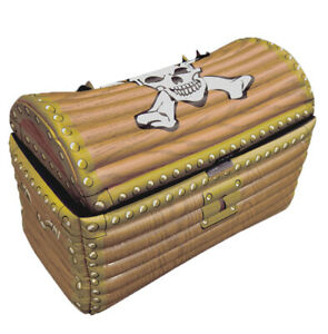 Inflatable Treasure Chest Fancy Dress Accessory Prop Pirate Theme Party Prop