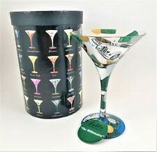 "Lolita Martini Collection ""The Millionaire"" 10 oz Hand Painted Martini Glass"