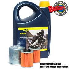 Kymco Xciting 500i R 2007 Filter & Putoline DX4 Oil 4L