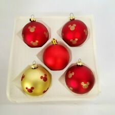 Disney Kurt Adler Ornaments Kringle Glass MIckey Mouse Ears