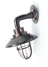 Outdoor Indoor Heavy Brass Wall Mount Lamp Japanned Finish Brass