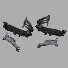 Pair Side Headlight Lamp Holder Bracket + Pair Plate Support Fit AUDI Q5 13-15