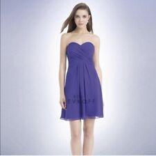 Bill Levkoff Womens Strapless Sweetheart Short Evening Gown Dress Purple Size 4