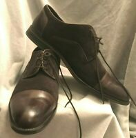 Alfani  Men's Suede Plain Cap Toe Brown Leather Dress Oxford Shoe 12M Avery 8046