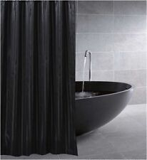 Black Satin Stripe Fabric Shower Curtain New FREE SHIPPING