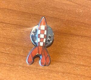 Rare Moulinsart Tintin Pin: Moon Rocket Fusee Official Herge Metal Badge
