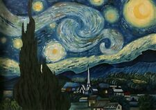 Starry Night (vincent van gogh) Handmade oil on canvas, 25In * 33 In Plus Frame.