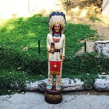 John Gallagher Carved Wooden Cigar Store Indian 6 ft Buffalo