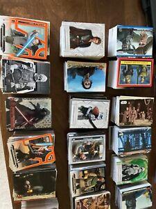 Star Wars Trading Cards lot of 85 Random Cards