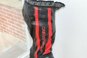 Dainese Biking Black Red Leather motorbike trousers size 54