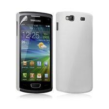 étui coque rigide brillante pour Samsung Wave 3 blanc nacré + Film protecteur