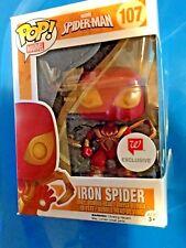 IRON SPIDER SPIDERMAN FUNKO POP! #107 VHTF EXCLUSIVE IRON SPIDER FUNKO POP