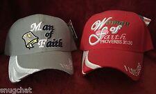 Man / Woman of Faith Snapback Trucker Baseball Caps Hats USA Headwear for Couple
