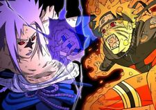 NARUTO VS SASUKE FIGHTING A3 ART PRINT PHOTO POSTER YF6056