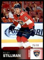 2019-20 Overtime Wave 3 Red Foil Parallel Rookies #163 Riley Stillman RC /99