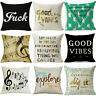 Bed Decor Cotton Home Linen Square Decorative Throw Pillow Case Cushion Cover