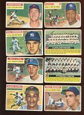 1956 Topps Baseball Card Lot 69 Different