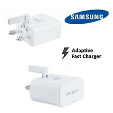 GENUINE SAMSUNG 2AMP UK MAINS ADAPTIVE FAST CHARGER WHITE EP-TA20UWE NO CABLE