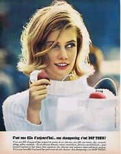 PUBLICITE ADVERTISING 025 1964 DOP TONIC shampoing
