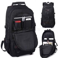 17 Inch Laptop Backpack Computer Bag Travel School Men Black Camping Hiking New