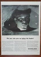 1943 National Dairy WW2 Farmers Milk Man Photo Vintage Print Ad 1940s Decor