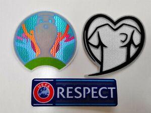 Euro 2020 Patch Set Cup& Heart&Respect Football  Shirt Patch