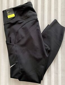 Nike Power Epic Luxe Mid Rise Wmns Running Leggings DC3549-010 Black Size XL New