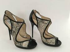 JIMMY CHOO LEONDRA PAINTED LACE PUMPS sz 39 STUNNING