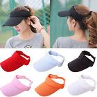 Women Men Golf Sports Hat Cotton Adjustable Summer Sun Visor Tennis Baseball Cap