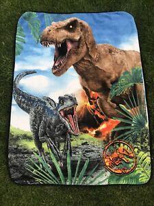 Universal Studios Jurassic Park T-Rex Plush Throw Blanket Soft Bedding 61 X 48