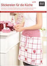 RICO Design 119–Stickereien für die Küche,Früchte, Kreuzstich, sticken,Anleitung