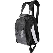 Black Motorcycle Magnetic Tank Bag Gear Back Pack Cruiser Sport Bike Dual Sport