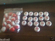 "SET OF PLASTIC MARBLES -  LOT OF 1-16 NEW PLASTIC KELLY POOL TABLE ""PILLS"""