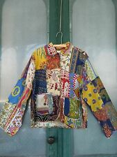 Boho Bargain Sacred Threads Patchwork Jacket -1X- Multi-Color Cotton NWT