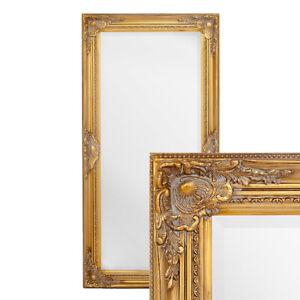 Wandspiegel LEANDOS 100x50cm barock gold antik Design Spiegel pompös Holzrahmen
