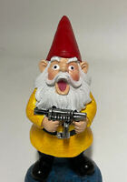 Classic Vintage Cute Christmas Santa Claus Elf Dwarfs w/Gun Toy Figure Decor