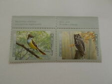Eastern Screech Owl & Great Crested Flycatcher Canadian Stamps MINT Canada