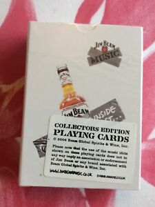 """Jim Bean """"Music Collectors Edition"""" Playing Cards Mint Condition"""