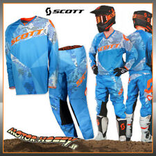 COMPLETO CROSS ENDURO ATV MTB SCOTT 350 RACE BLUE ORANGE TAGLIA M - 30