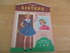 Vintage Rare Sisters Paper Dolls 1966 Lowe 12 page story Uncut