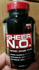 SHEER STRENGTH N.O. NITRIC OXIDE BOOSTER MUSCLE PUMP GROWTH 120 CAPSULES jl