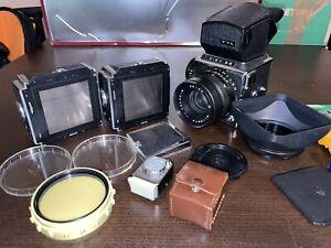 Kiev 88 Mittelformatkamera mit 2.8/80mm inkl. großem Zubehörpaket; guter Zustand