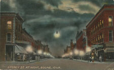 Boone IA * Storey St. at Night   1910 *